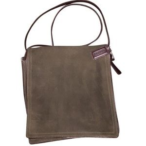 Olive Suede Coach Bag H92-6148